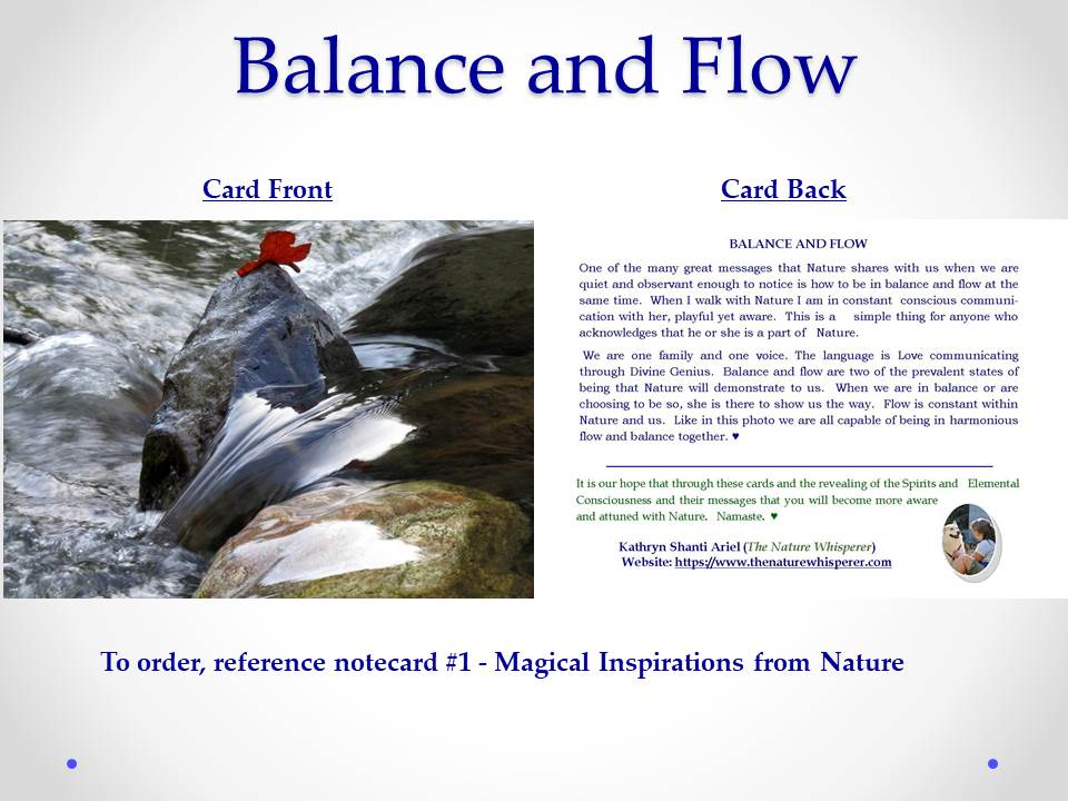 Balance and Flow Notecard