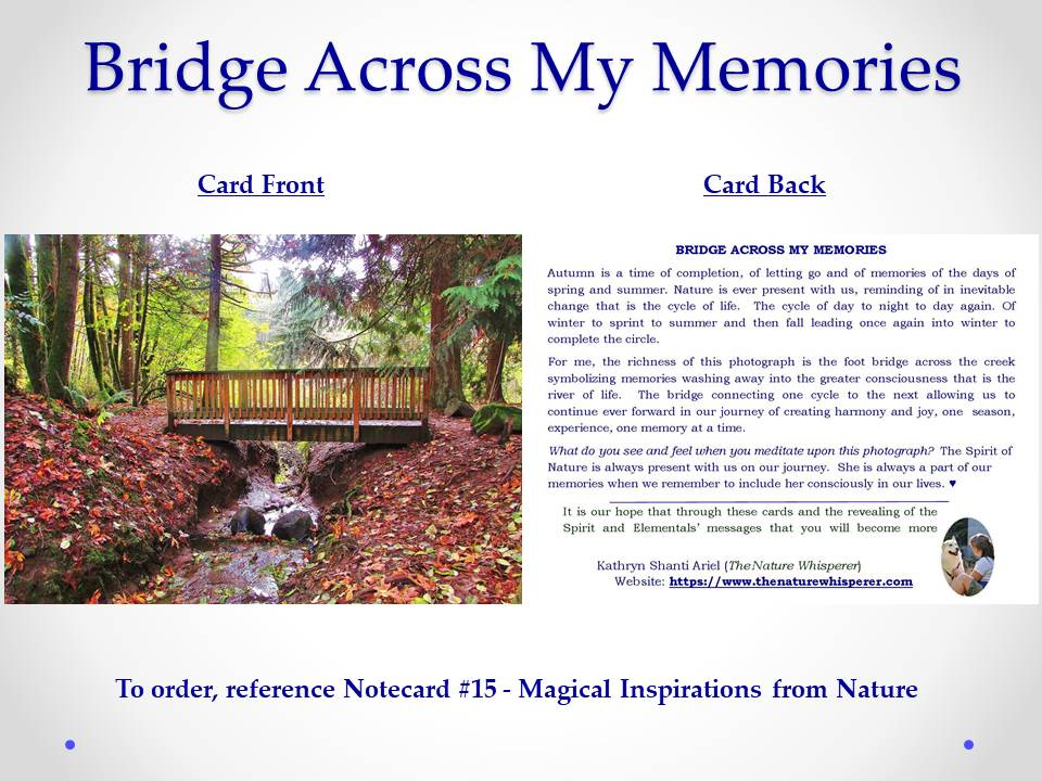 Bridge of My Memories notecard