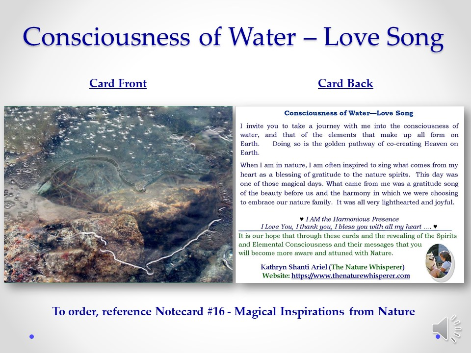 Water Consciousness notecard side by side