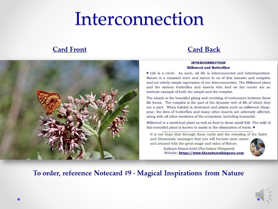 Interrelationships notecard side by side