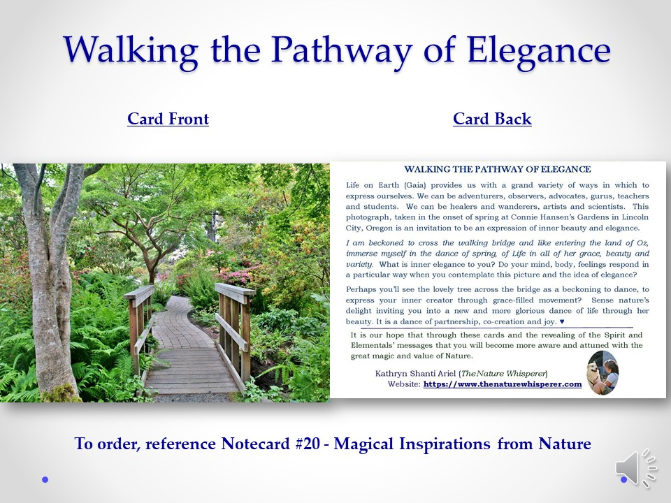 Pathway to Elegance notecard side by side